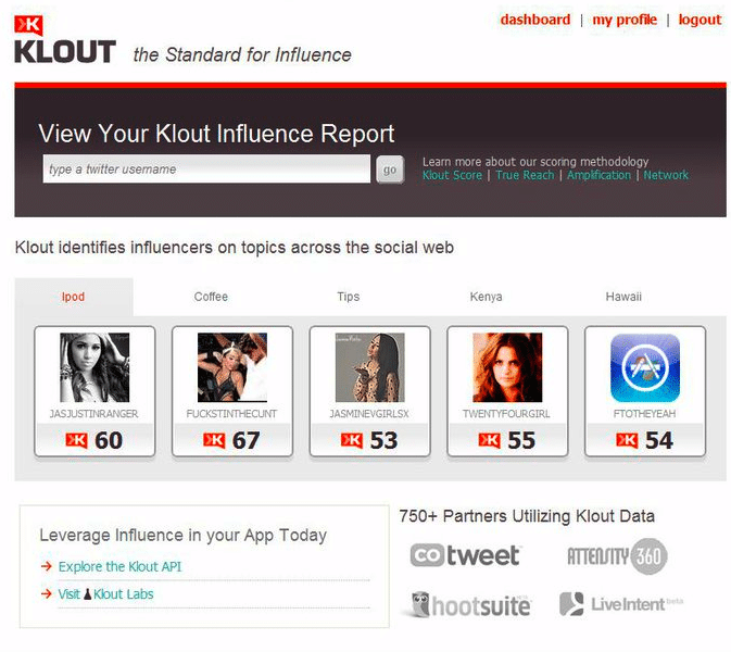 Does Klout influence matter