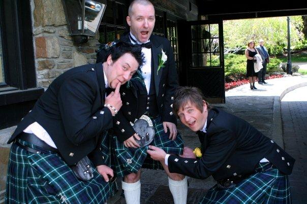 Danny Brown in a kilt