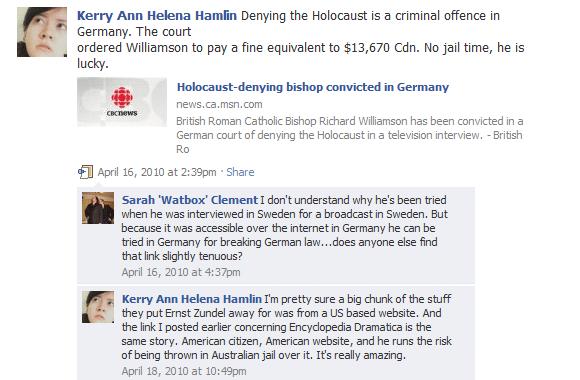 Against Holocaust Denial Laws