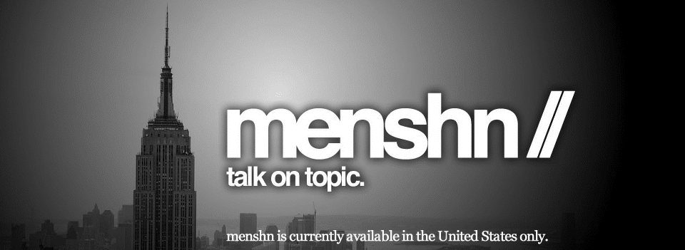 menshn talk on topic