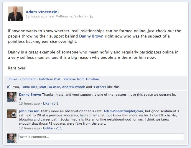 Adam V on FB