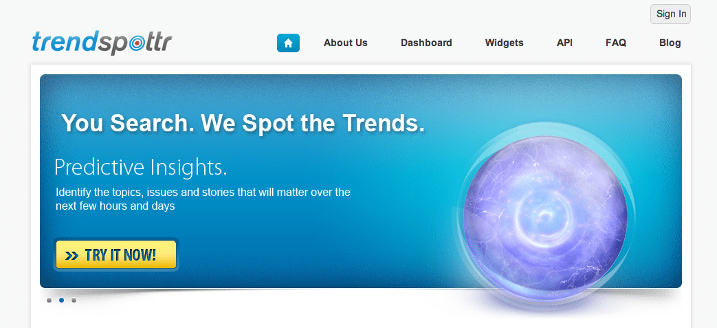 Welcome to TrendSpottr
