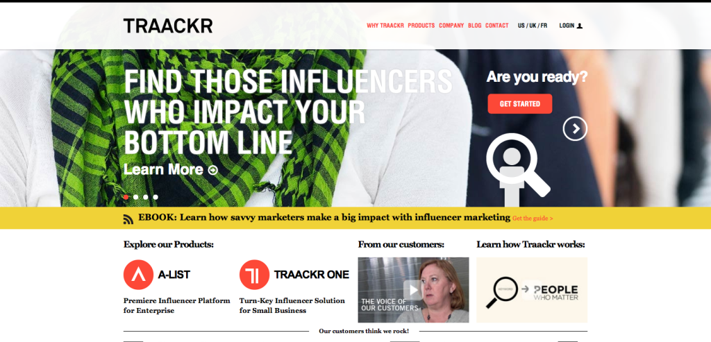 TRAACKR  Find the influencers who matter most to you