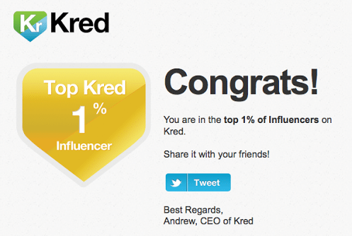 Kred top 1%