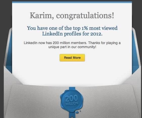 LinkedIn 1% BS