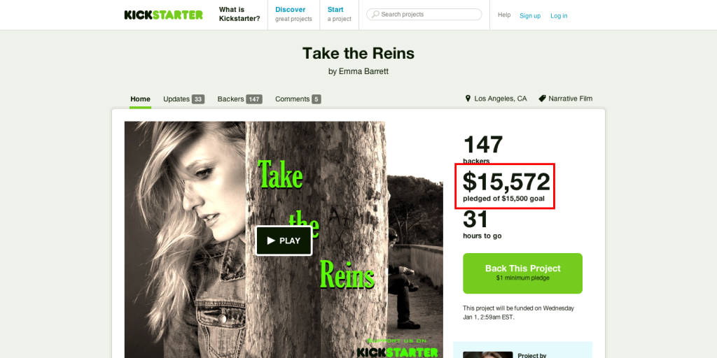 Take the Reins by Emma Barrett — Kickstarter