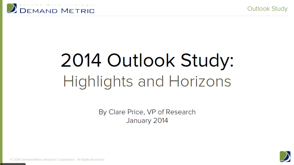 2014 outlook study from Demand Metric