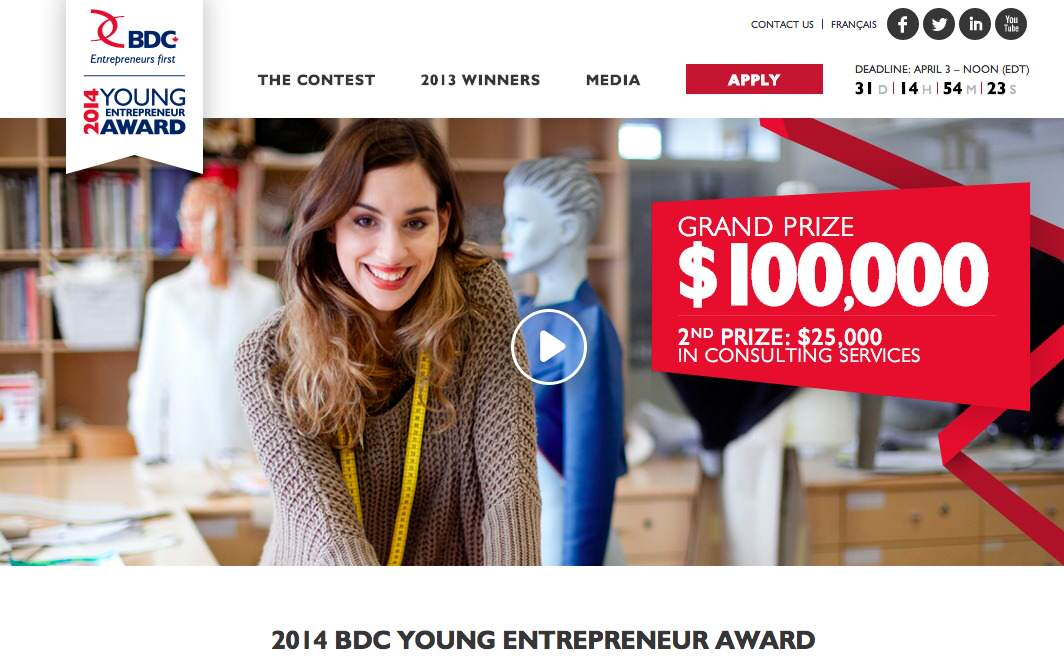 How the 2014 BDC Young Entrepreneur Award is Helping Canadian Business