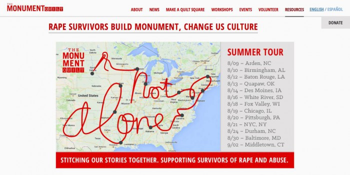 RAPE SURVIVORS BUILD MONUMENT CHANGE US CULTURE The Monument Quilt