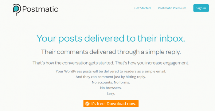 Postmatic WordPress Blog Comments by Email